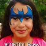 Bat Girl Face Painting