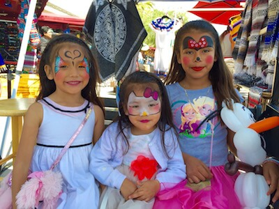 3 Girls at Old Town San Diego with Cute Face Paintings