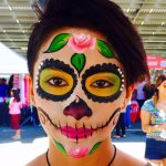 girl with sugar skull face paint
