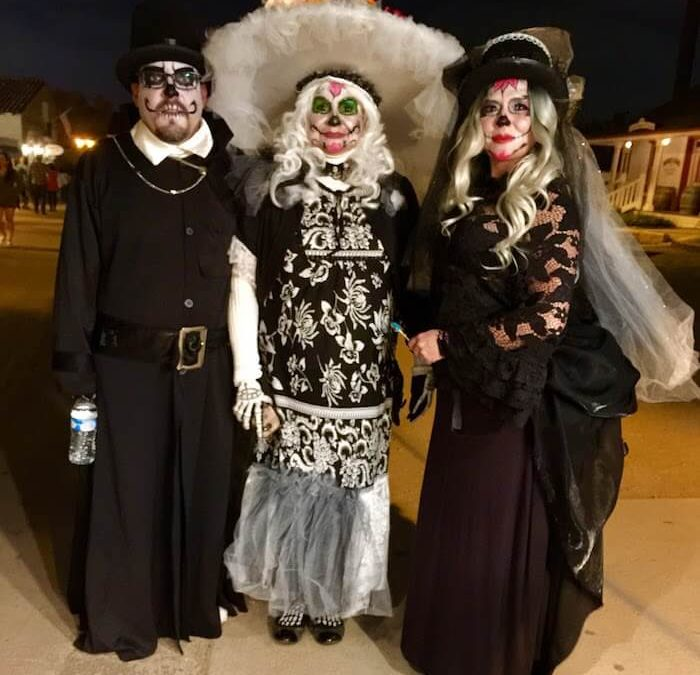 Sugar Skull Face Paintings with Costumes at Old San Diego