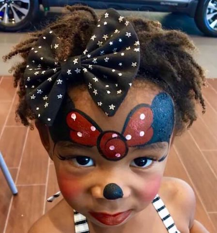 Mouse Girl Face Painting