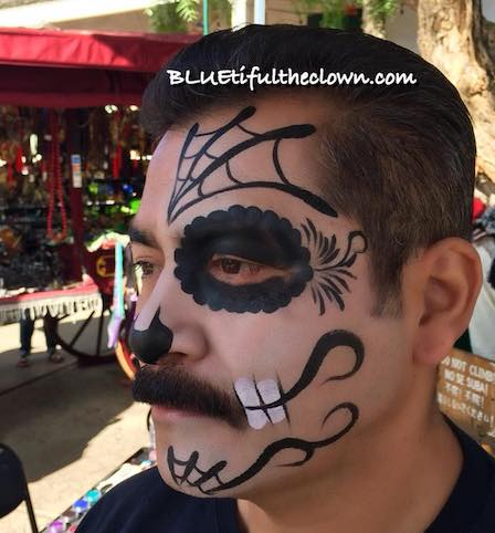 Sugar Skull Face Painting at San Diego Old Town Day of the Dead Festival