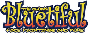 BLUEtiful the clown logo face painting and more