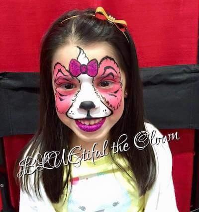 Cute Doggy Face Paint